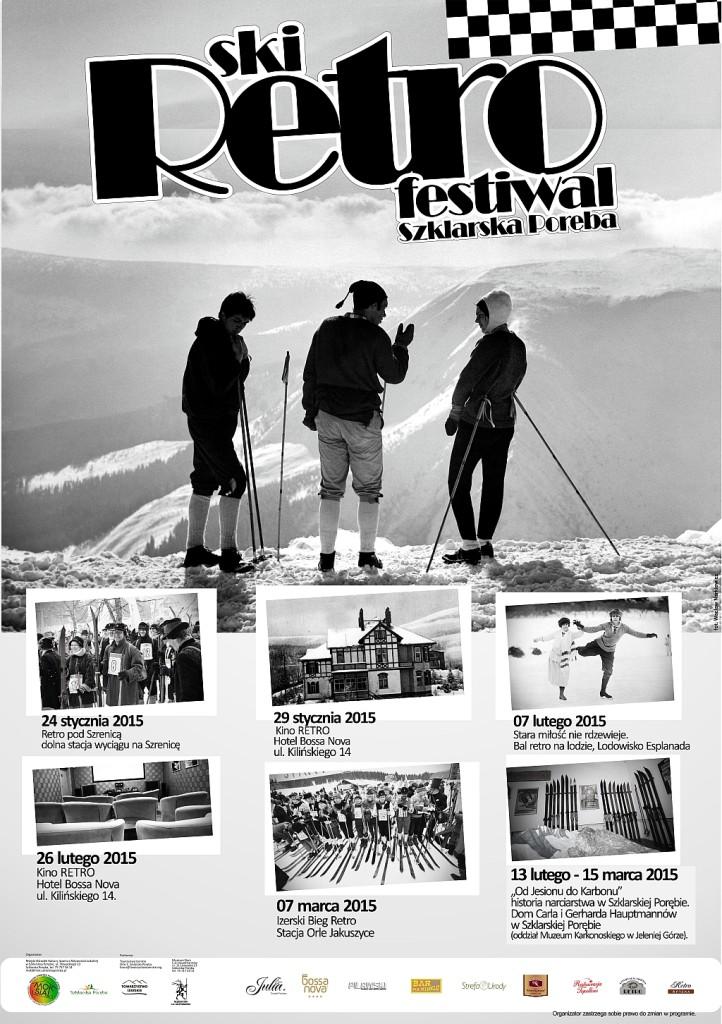 ski retro festiwal - plakat
